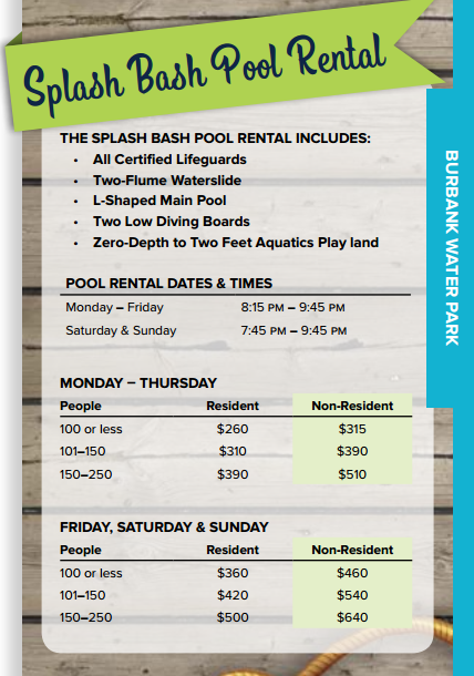 Splash Bash Pool Rentals
