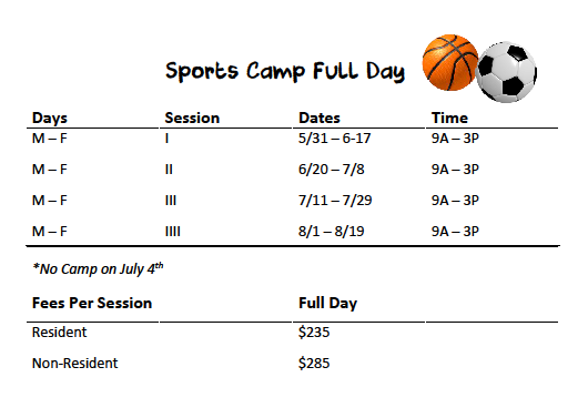 Sports Camp Full Day