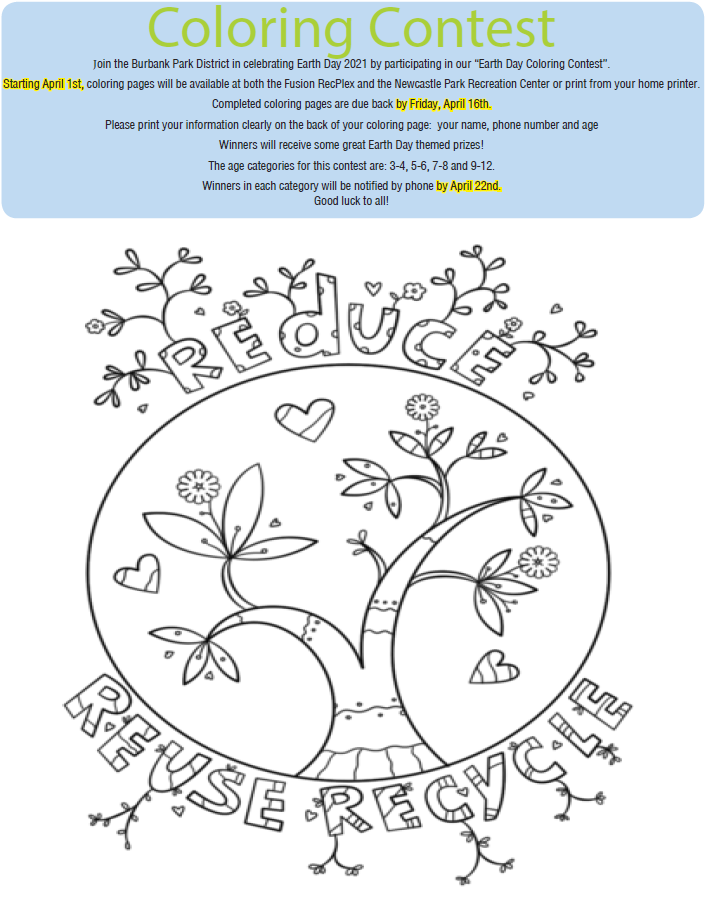 Spring Brochure Coloring Page