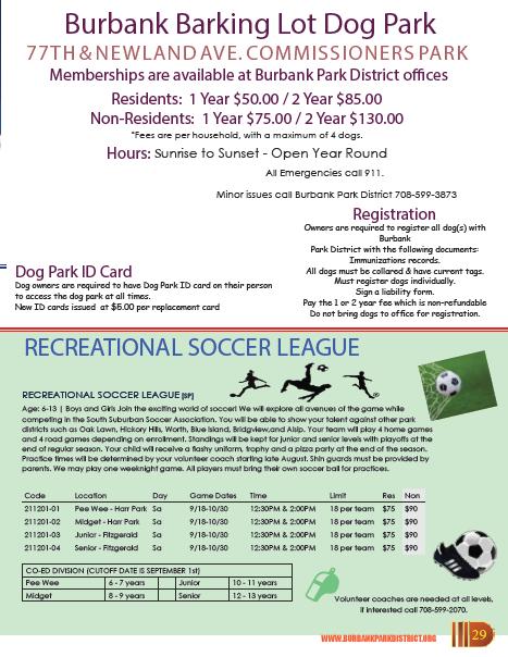 Dog Park / Soccer League