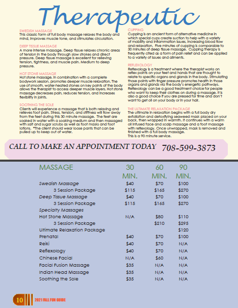 Massage and Services at Fusion