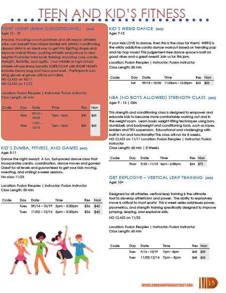 Kid's and Teen Fitness/Sports